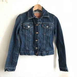 Levi strauss jean jacket juniors small blue cotton